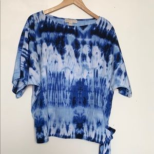 MICHAEL Michael Korean Short Sleeve Tie Dye w Knot